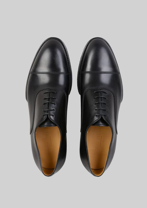 LEATHER LACE-UPS : Lace-ups Men by Armani - 4