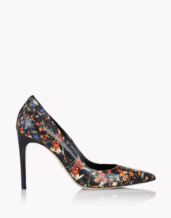 floral leather pumps shoes Woman Dsquared2