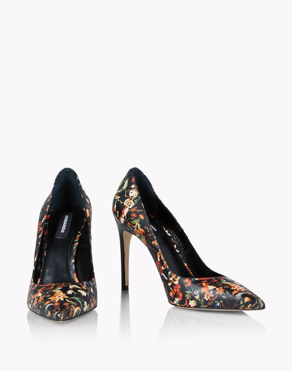 floral leather pumps schuhe Damen Dsquared2