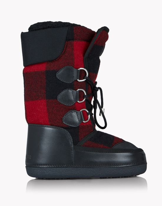 check snow boots shoes Woman Dsquared2