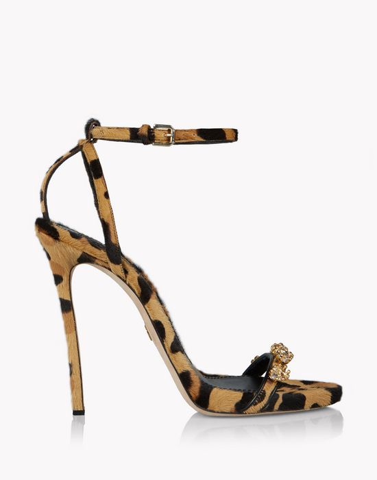 leopard evening treasures sandals chaussures Femme Dsquared2