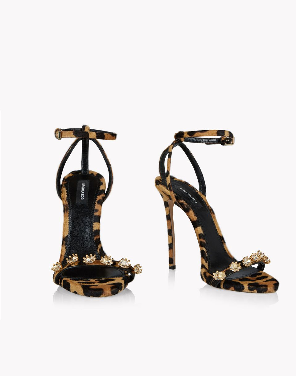 leopard evening treasures sandals schuhe Damen Dsquared2