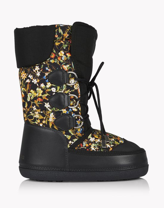 floral snow boots shoes Woman Dsquared2