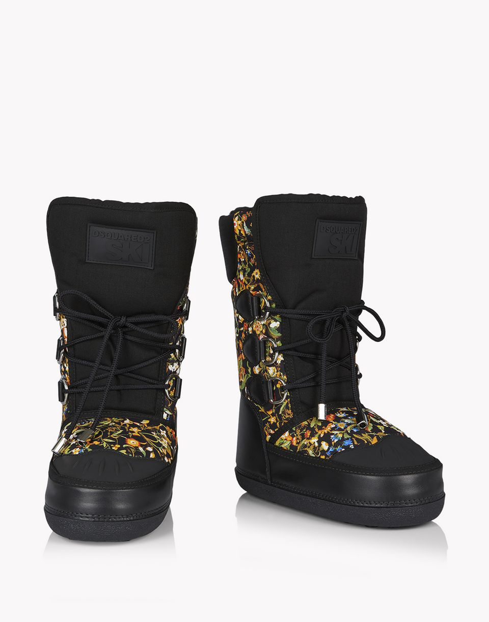 floral snow boots shoes Woman Dsquared2