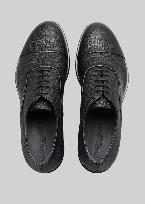 LEATHER BROGUES : Lace-ups Men by Armani - 4