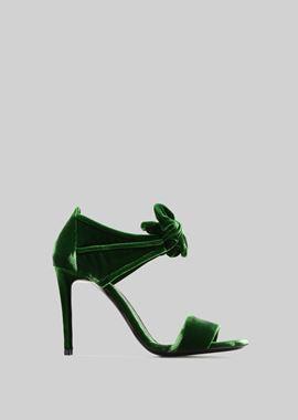 Armani Sandals Women velvet sandals
