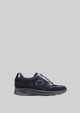 Armani Sneakers Men sneaker in tortoise print leather