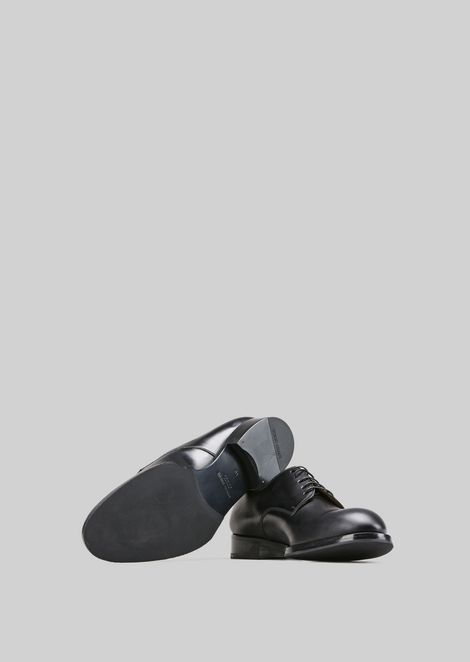 LEATHER LACE-UPS : Lace-ups Men by Armani - 5