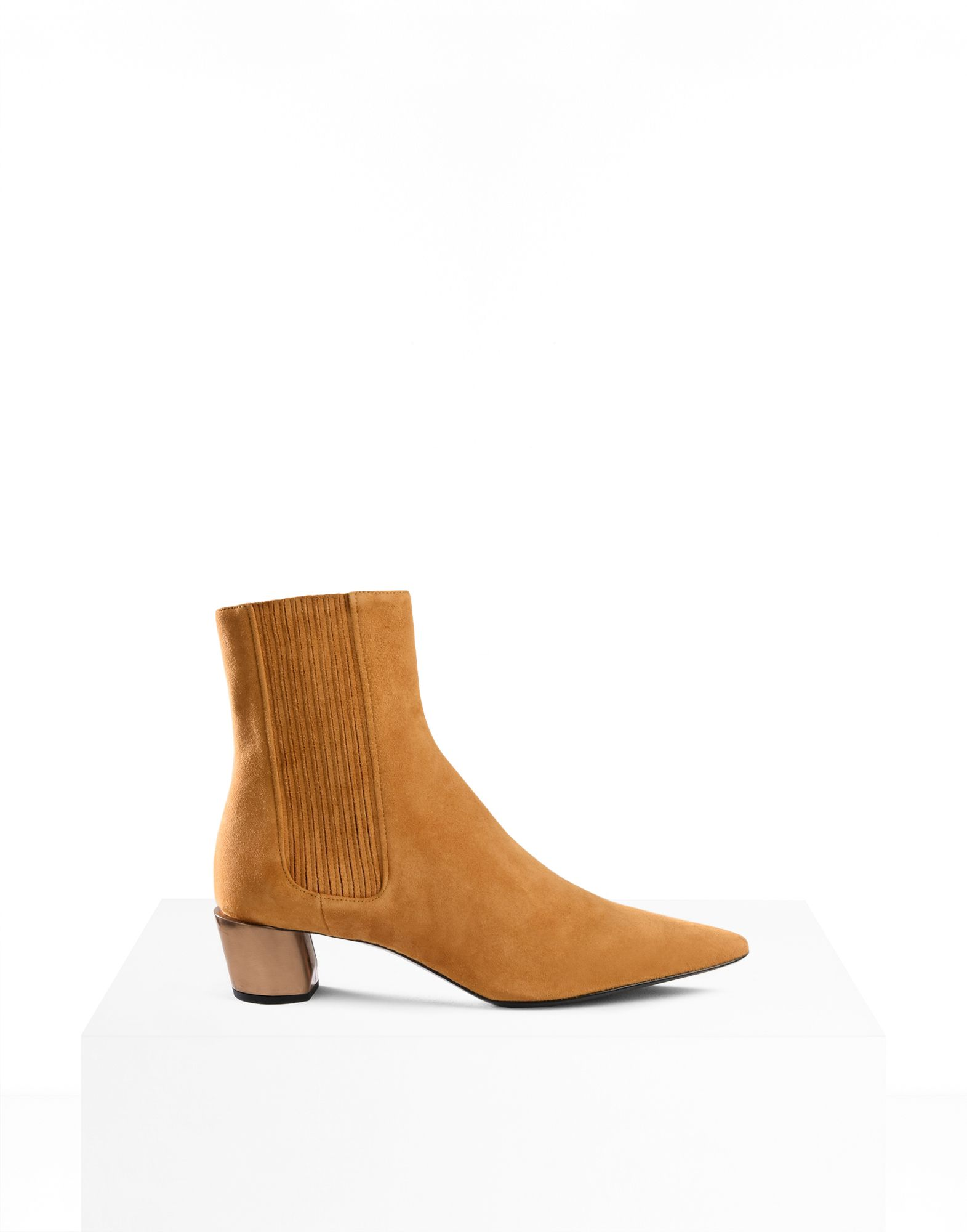 ANKLE BOOTS - OCHRE