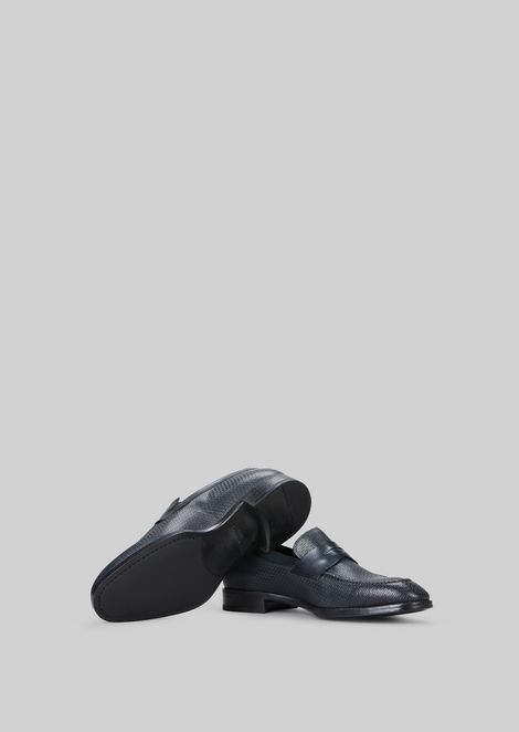 LEATHER LOAFERS : Loafers Men by Armani - 5