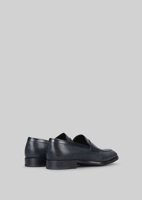LEATHER LOAFERS : Loafers Men by Armani - 3