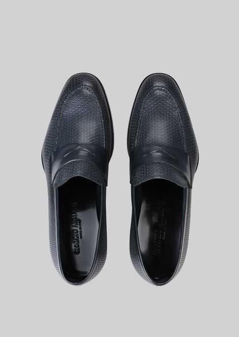 LEATHER LOAFERS : Loafers Men by Armani - 4