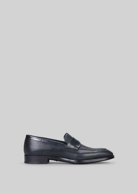 LEATHER LOAFERS : Loafers Men by Armani - 1