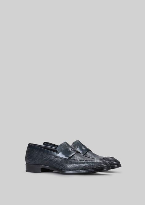 LEATHER LOAFERS : Loafers Men by Armani - 2