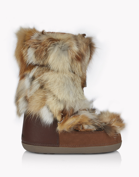 fox fur snow boots schuhe Damen Dsquared2