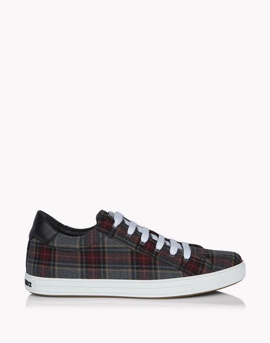 check tennis club sneakers shoes Man Dsquared2