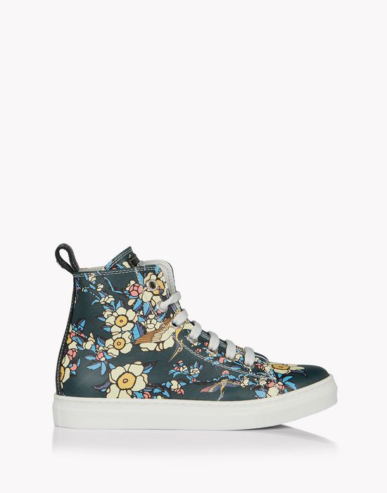 cherry blossom high-top sneakers calzado Mujer Dsquared2