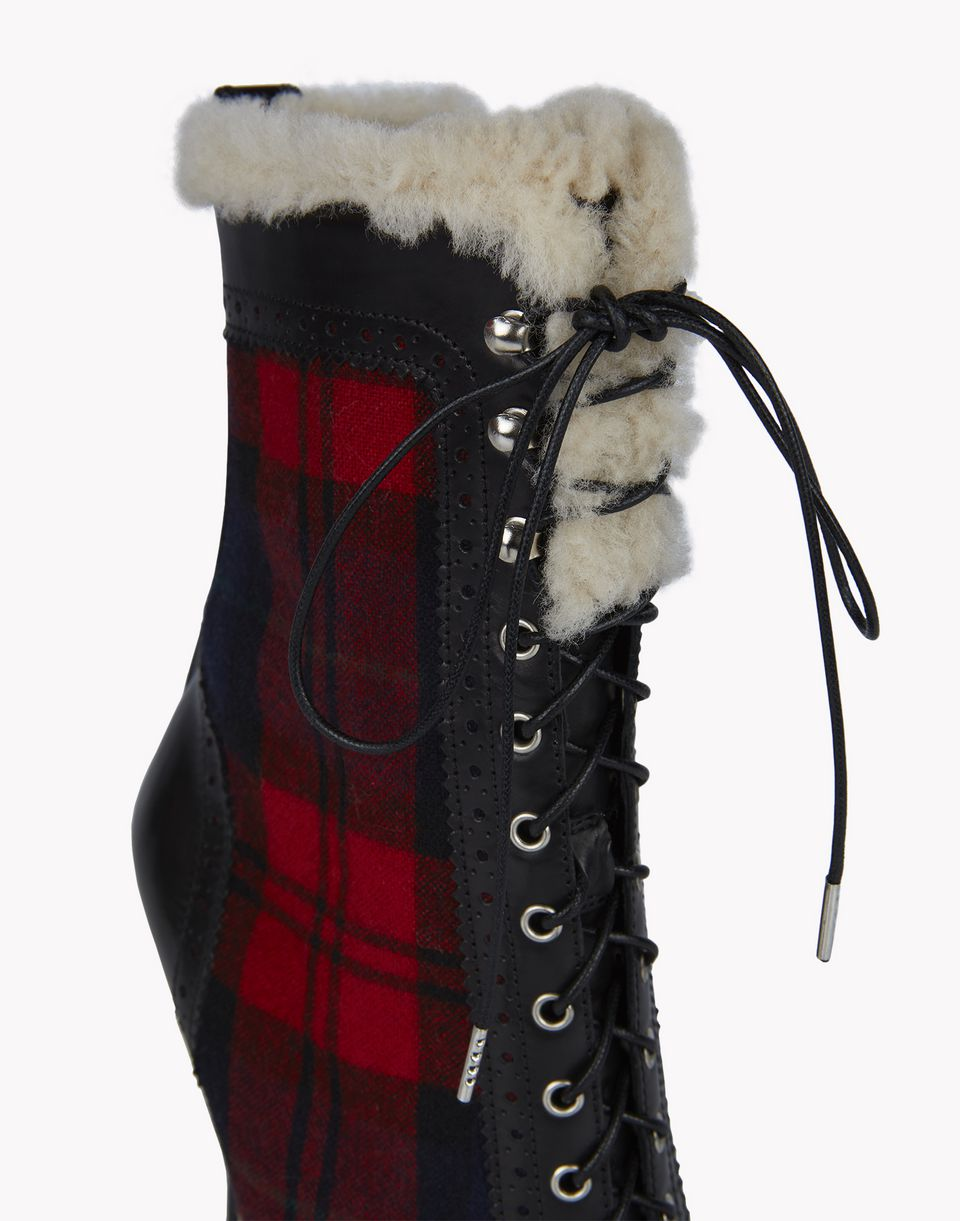 check lace-up brogue ankle boots shoes Woman Dsquared2
