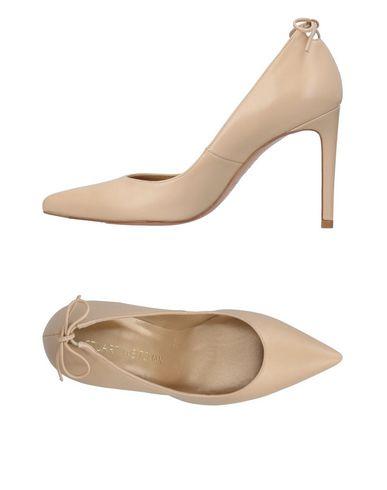 Туфли лодочки на среднем каблуке купить бежевые