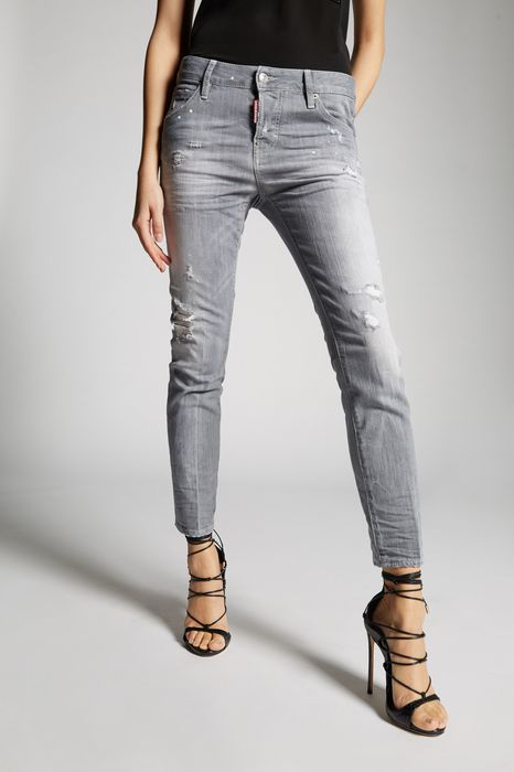 grey broken cool girl jeans джинсы Для Женщин Dsquared2