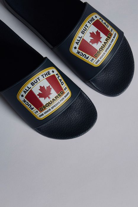 canadian flag slides chaussures Homme Dsquared2