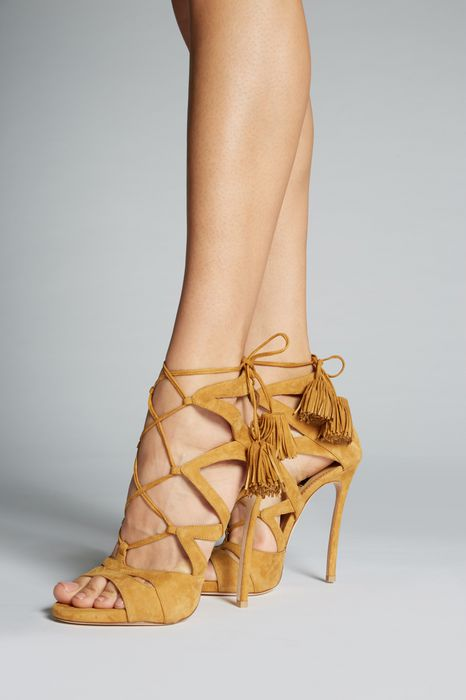 safari tie me up sandals shoes Woman Dsquared2