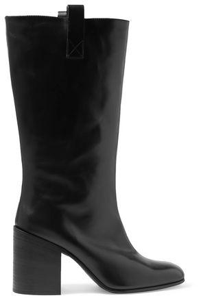 아크네 스튜디오 Acne Studios Glossed-leather boots,Black