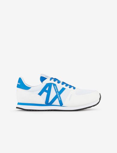 아르마니 익스체인지 Armani Exchange SNEAKERS WITH APPLIQUEE LOGO,White
