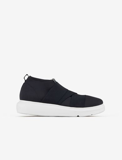 아르마니 익스체인지 Armani Exchange SNEAKER WITH ELASTIC INSERTS,Navy Blue