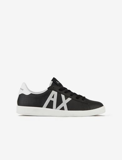 아르마니 익스체인지 Armani Exchange SNEAKERS WITH APPLIQUEE LOGO,Black