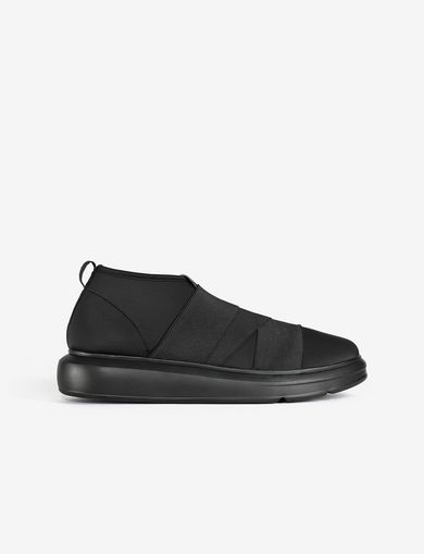 아르마니 익스체인지 Armani Exchange SNEAKER WITH ELASTIC INSERTS,Black