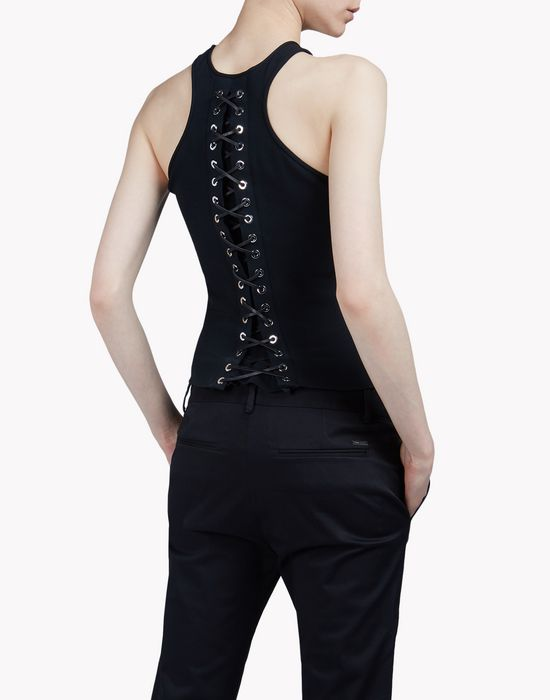 lace-up tank top wear Woman Dsquared2