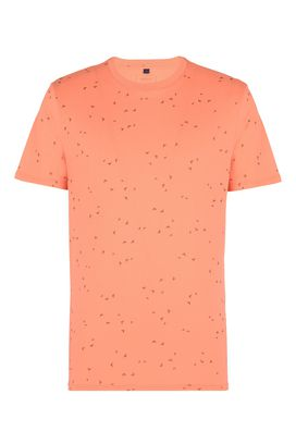 Armani T-Shirt Uomo t-shirt girocollo in cotone con aquile all over