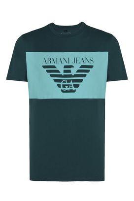 Armani Tshirt stampate Uomo t-shirt girocollo cotone con stampa logo