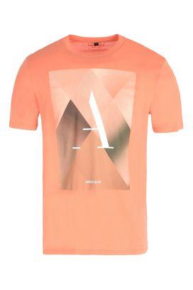 Armani Tshirt stampate Uomo t-shirt girocollo in jersey di cotone con stampa geometrica