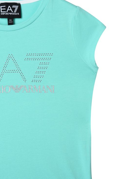 T-SHIRT IN COTONE STRETCH : T-Shirt Donna by Armani - 3