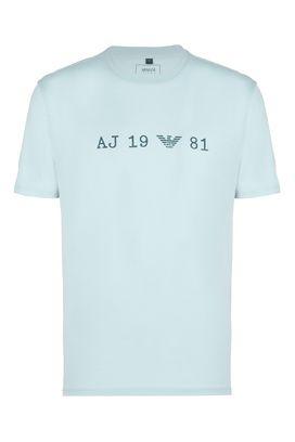 Armani T-Shirt Uomo t-shirt girocollo cotone con stampa iniziali