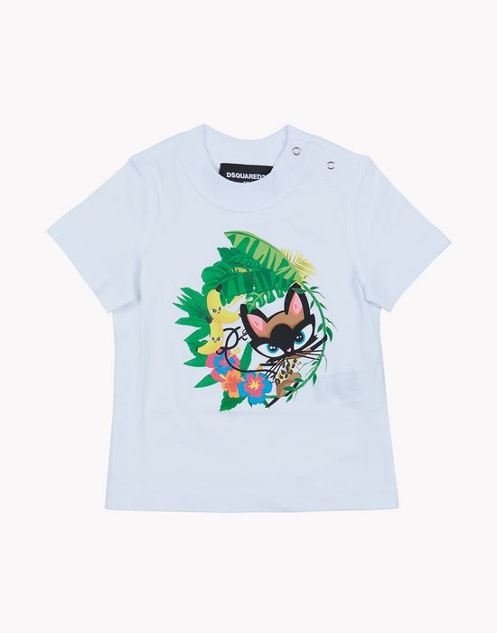 tropical t-shirt tops & tees Woman Dsquared2