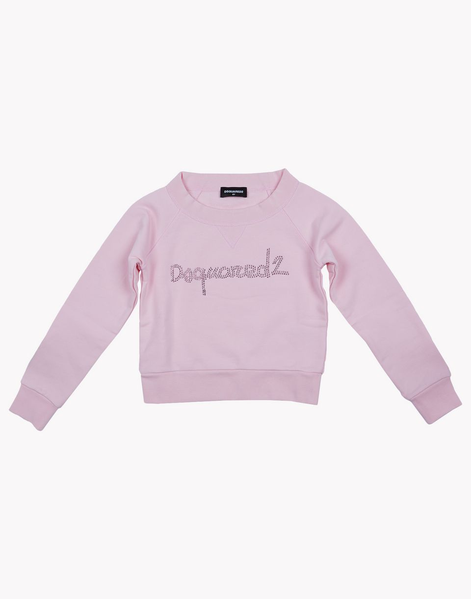 d2 rhinestone sweatshirt tops & tees Woman Dsquared2