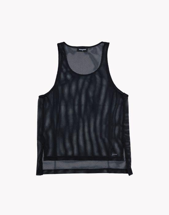 mesh tank top camisetas y tops Hombre Dsquared2