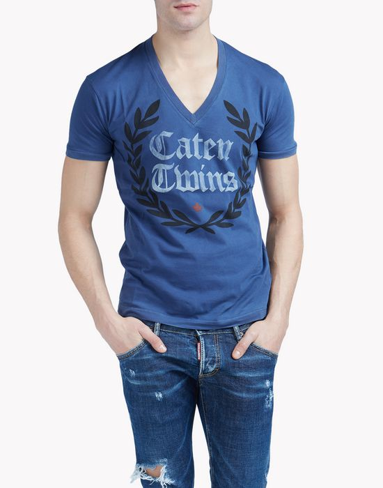 caten twins t-shirt top wear Man Dsquared2