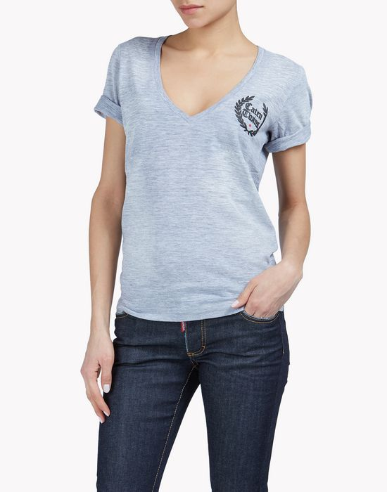 caten twins t-shirt tops Femme Dsquared2