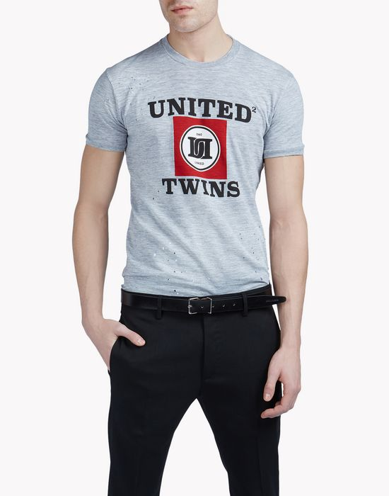united twins t-shirt top wear Man Dsquared2