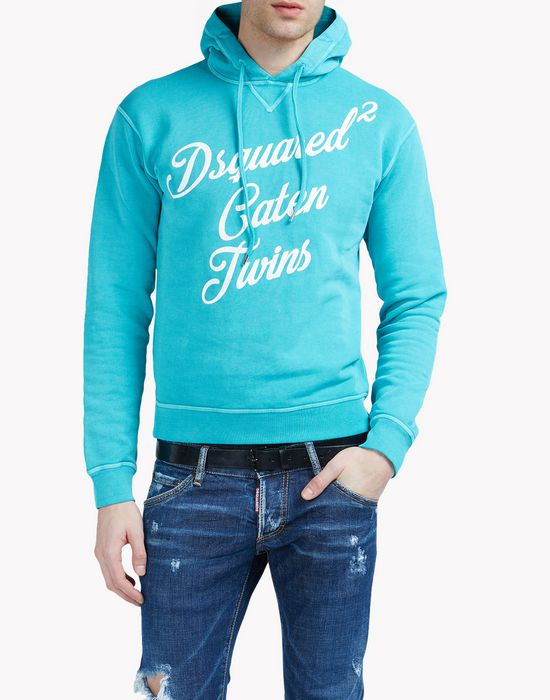 caten twins sweatshirt camisetas y tops Hombre Dsquared2