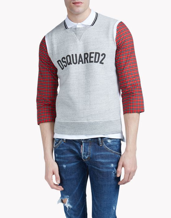 check collar sweatshirt top wear Man Dsquared2