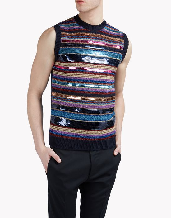 embellished knit vest tops Homme Dsquared2