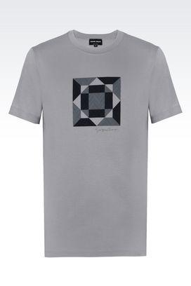 Armani T-shirts Uomo t-shirt girocollo in jersey stretch