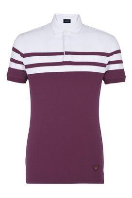 Armani Polo Shirt Uomo polo in cotone piquet stretch rigato