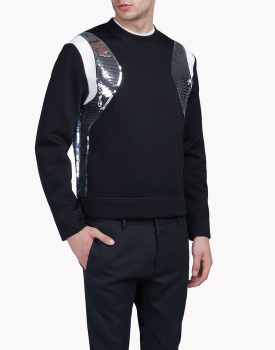 sequin-trimmed sweatshirt top wear Man Dsquared2