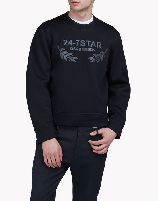 24-7 star sweatshirt tops & tees Man Dsquared2